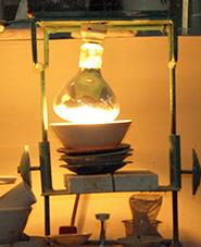 lampu pengering untuk kadar air dan restan saringan