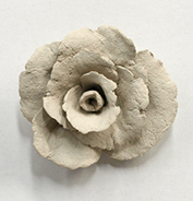 mawar paper clay baru kering