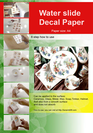 Inkjet Water Slide Decal Paper
