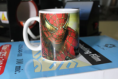 Laminating mug promosi