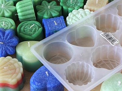 cetakan lilin memakai plastik cetakan kue
