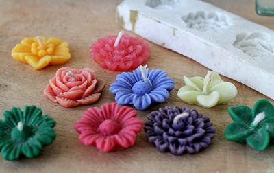 lilin memakai cetakan silicone rubber
